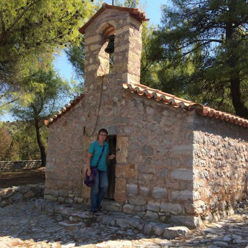 Oud Byzantijns kerkje in Argolida